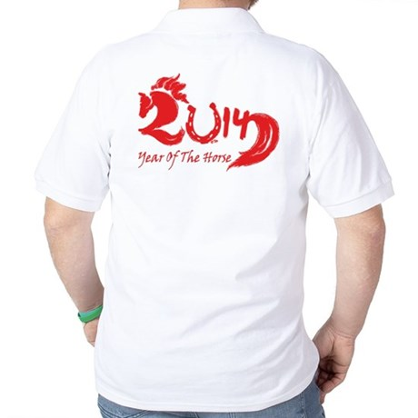 Lucky Horse Year 2014 Golf Shirt
