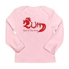 Lucky Horse Year 2014 Long Sleeve Infant T-Shirt