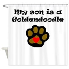 My Son Is A Goldendoodle Shower Curtain