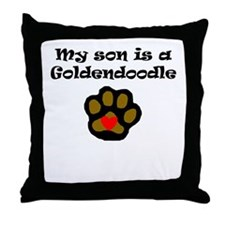 My Son Is A Goldendoodle Throw Pillow