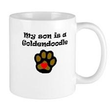 My Son Is A Goldendoodle Mugs