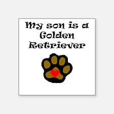My Son Is A Golden Retriever Sticker