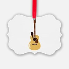 Acoustic Guitar and Bird Ornament