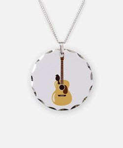Acoustic Guitar and Bird Necklace