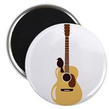Acoustic Guitar and Bird Magnets