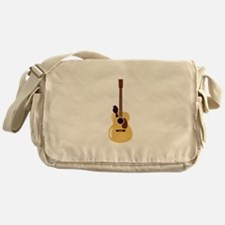 Acoustic Guitar and Bird Messenger Bag