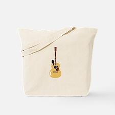 Acoustic Guitar and Bird Tote Bag