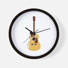 Acoustic Guitar and Bird Wall Clock