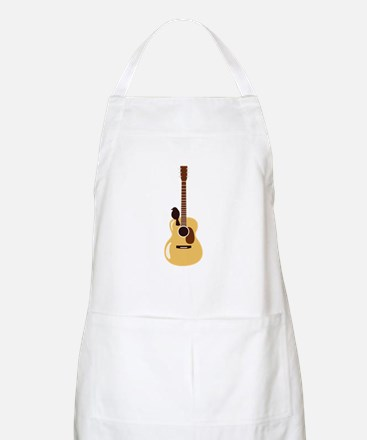 Acoustic Guitar and Bird Apron