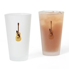 Acoustic Guitar and Bird Drinking Glass