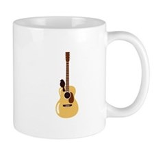 Acoustic Guitar and Bird Mugs