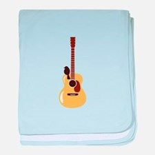 Acoustic Guitar and Bird baby blanket