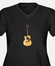 Acoustic Guitar and Bird Plus Size T-Shirt
