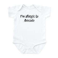 Allergic to Avocado Infant Bodysuit