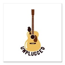 """Unplugged Square Car Magnet 3"""" x 3"""""""