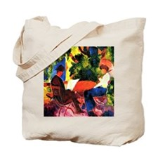 August Macke - At the Garden Table Tote Bag