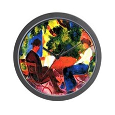 August Macke - At the Garden Table Wall Clock