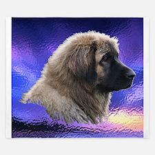Leonberger Dog Blue Purple King Duvet