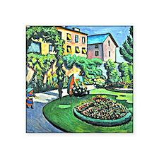 """August Macke - Gartenbild Square Sticker 3"""" x 3"""""""