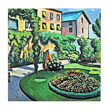 August Macke - Gartenbild Tile Coaster