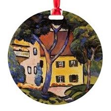 August Macke - House in a Landscape Ornament