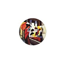 August Macke - The Hat Shop Mini Button