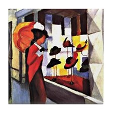 August Macke - The Hat Shop Tile Coaster