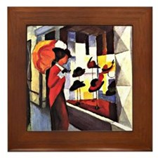 August Macke - The Hat Shop Framed Tile