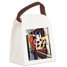 August Macke - The Hat Shop Canvas Lunch Bag