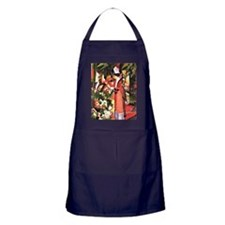 August Macke - Walk in Flowers Apron (dark)