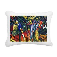 August Macke - Zoologica Rectangular Canvas Pillow
