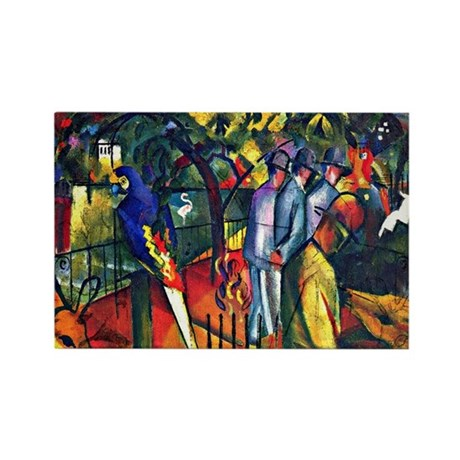 August Macke - Zoological Garden Rectangle Magnet