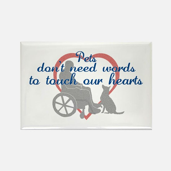 Pets Touch Heart Rectangle Magnet
