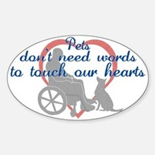 Pets Touch Heart Sticker (Oval)