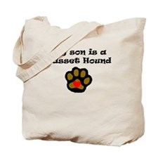 My Son Is A Basset Hound Tote Bag