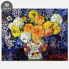 Vase of Flowers, 1907, Theo Van Rysselbergh Puzzle