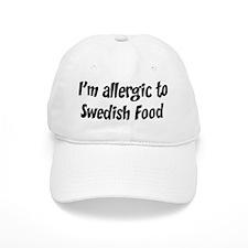Allergic to Swedish Food Baseball Cap