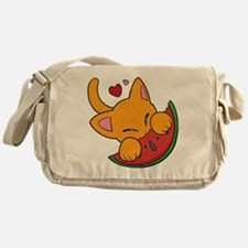 Kawaii Watermelon Kitty Messenger Bag