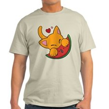 Kawaii Watermelon Kitty T-Shirt
