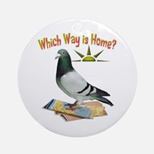 Which Way Is Home? Fun Lost Pigeon Art Ornament (R