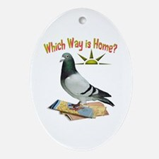 Which Way Is Home? Fun Lost Pigeon Art Ornament (O