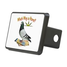 Which Way Is Home? Fun Lost Pigeon Art Hitch Cover