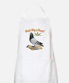 Which Way is Home? Fun Lost Pigeon Art Apron