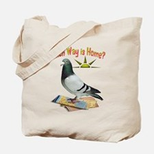 Which Way is Home? Fun Lost Pigeon Art Tote Bag