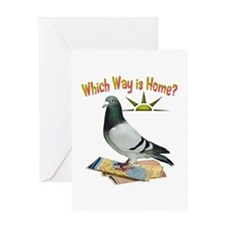 Which Way Is Home? Fun Lost Pigeon Greeting Cards