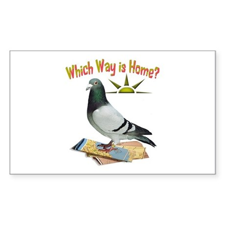 Which way is home fun lost pigeon art decal by for Which way to home