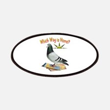 Which Way Is Home? Fun Lost Pigeon Art Patches