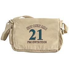 Cute 21 year old designs Messenger Bag