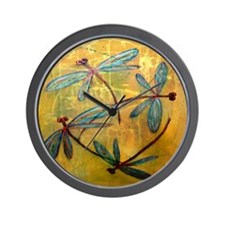 Dragonfly Haze Wall Clock