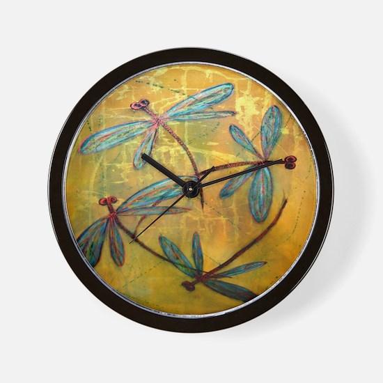 Dragonfly Haze Wall Clock